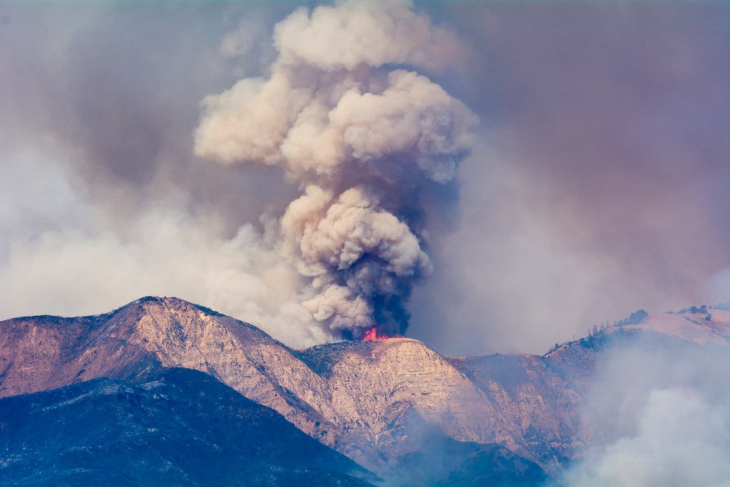 Fire on ridge photo